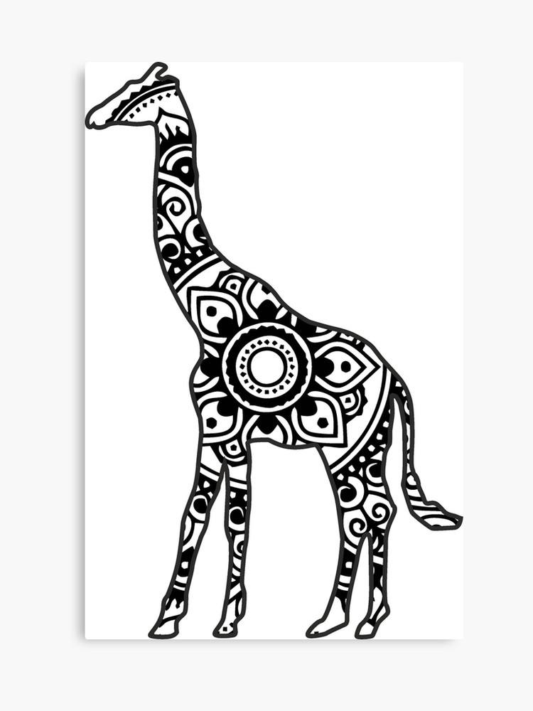 Clipart giraffe mandala, Clipart giraffe mandala
