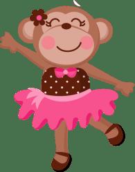 monkey clipart ballerina baby tutu animal dancing ballet clip cute pink dance transparent cartoon monkeys svg jwi webstockreview apparel custom