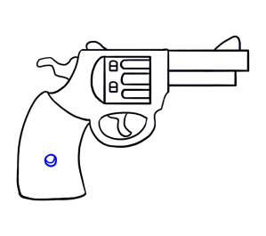 draw drawing cartoon clipart revolver gun easy simple guns sketch step transparent fortnite person drawings welder easydrawingguides cool sketches steps