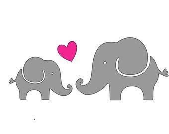 Download Elephants clipart heart, Elephants heart Transparent FREE ...