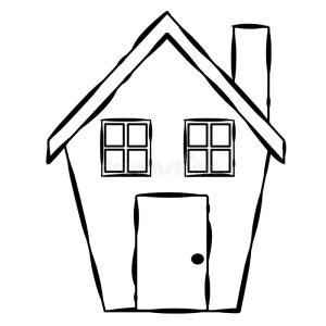 line simple clipart houses easy haus einfache kunst drawing lijn het enkel zeile undesired arte riga semplice camera della schema
