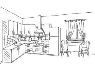 Kitchen Clipart Black And White