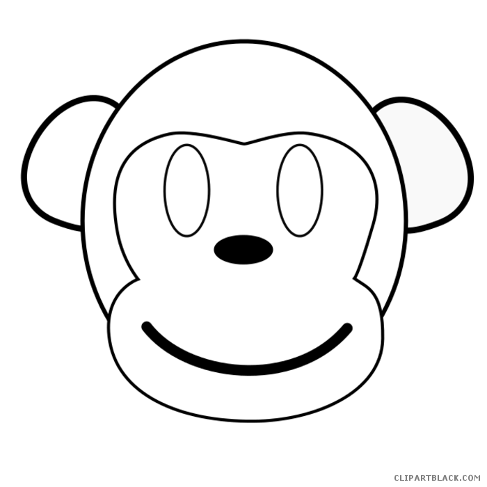 Monkeys clipart outline, Monkeys outline Transparent FREE
