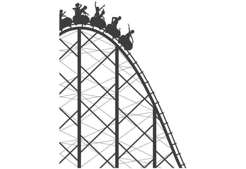 Rollercoaster clipart cartoon, Rollercoaster cartoon