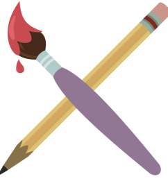paint brush pen free on dumielauxepices net pencil clipart paintbrush  [ 894 x 894 Pixel ]