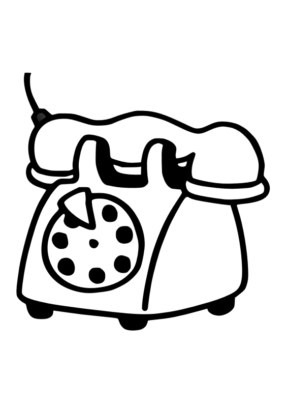 Telephone clipart old school, Telephone old school