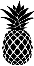 pineapple stencil clipart template silhouette cricut simple doormat stencils drawings drawing ananas pattern easy projects dessin a4 fruit a6 a5