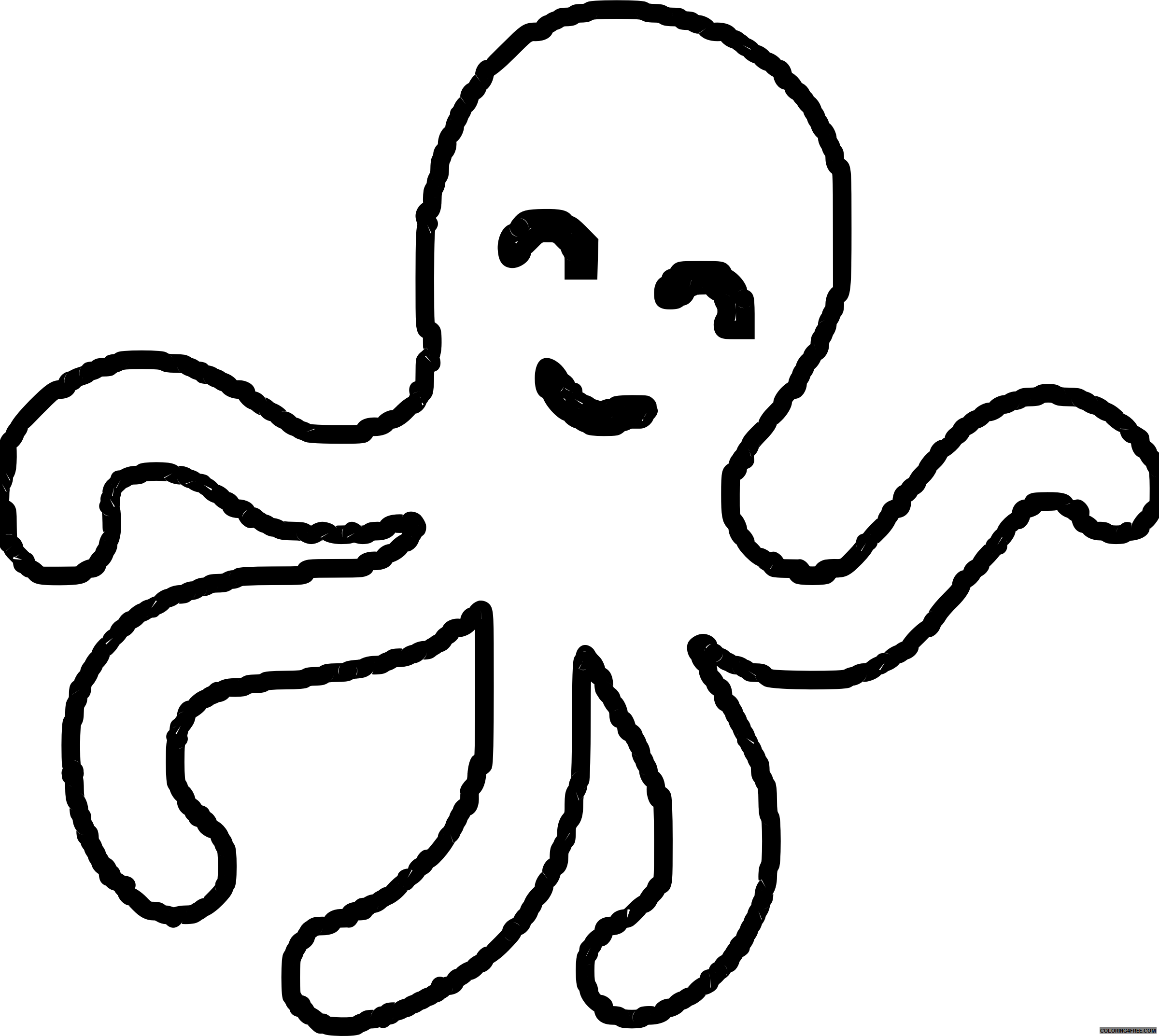Squid clipart coloring page, Squid coloring page