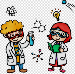 cartoon scientist clipart science transparent playing webstockreview line