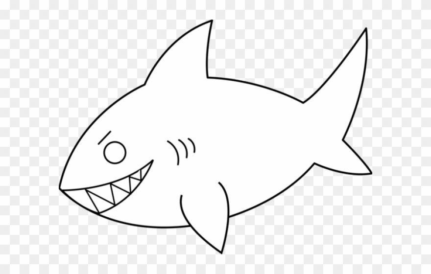 Clipart shark outline, Clipart shark outline Transparent