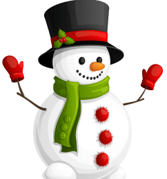 clipart snowman transparent with green scarf [ 4119 x 4892 Pixel ]
