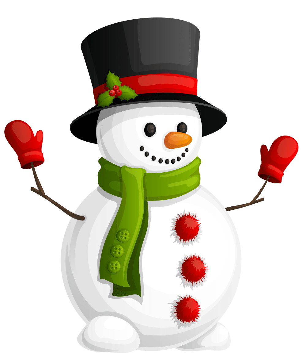 medium resolution of clipart snowman transparent with green scarf