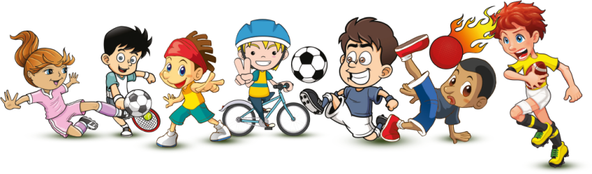 sports clipart sport physical education cartoon pe teacher clip activities transparent class characters coaching male games game female arts talking