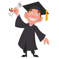 student graduation clipart university graduate college clip diploma ceremony cartoon students transparent graduating humans degree daycare toppers webstockreview collection grade