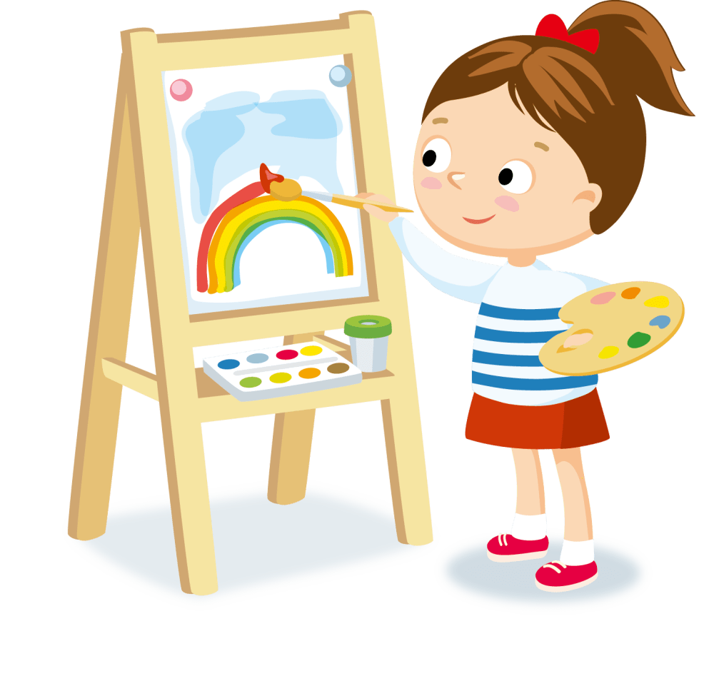 medium resolution of easel clipart art class