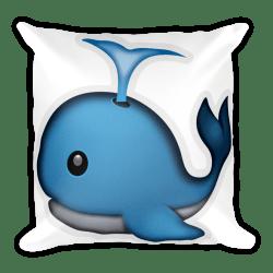 whale object clipart emoji transparent pillow webstockreview spouting