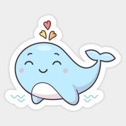 whale kawaii clipart cute webstockreview