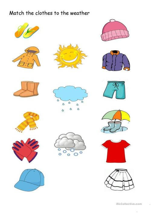 small resolution of Clothes clipart worksheet