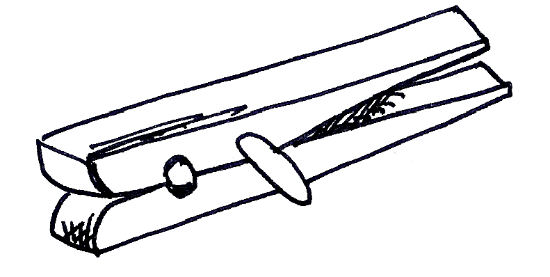 Clothespin clipart black and white, Clothespin black and