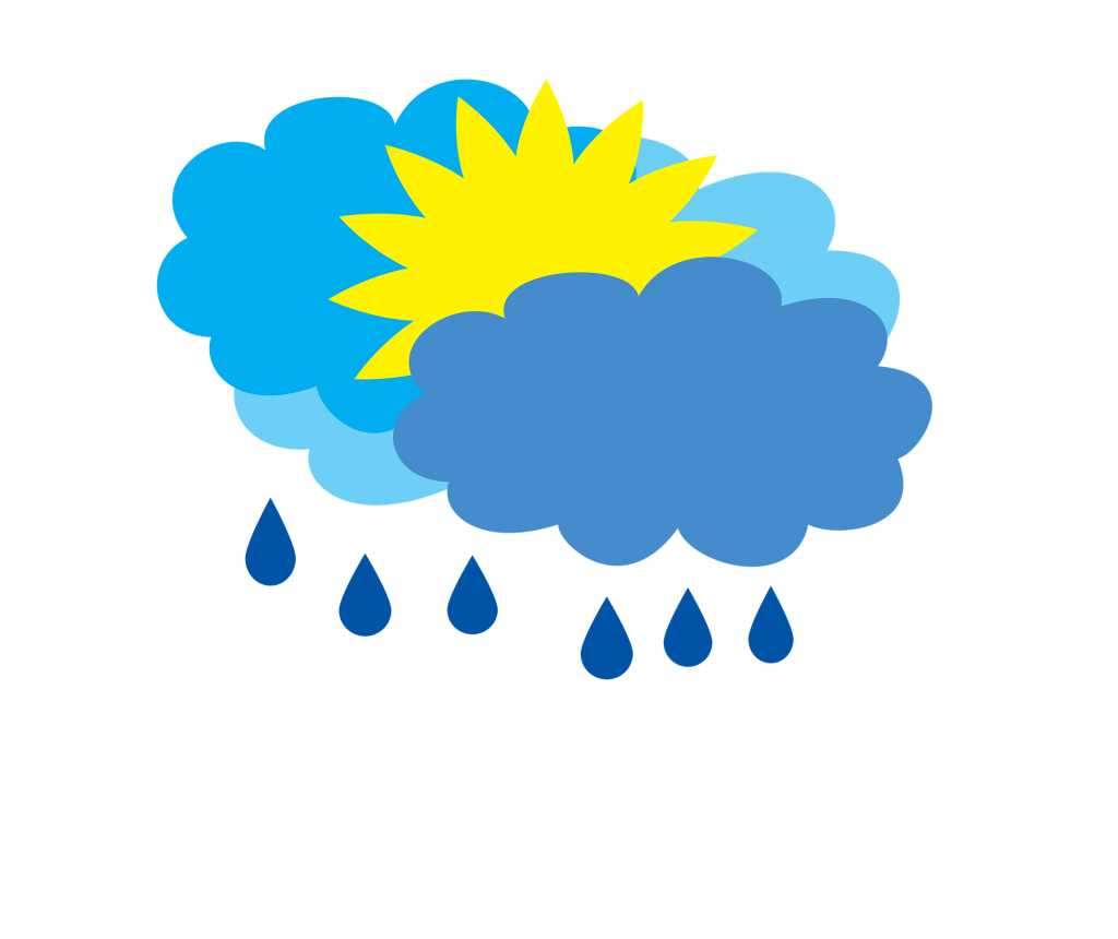 Cloudy Clipart Weather Word Cloudy Weather Word