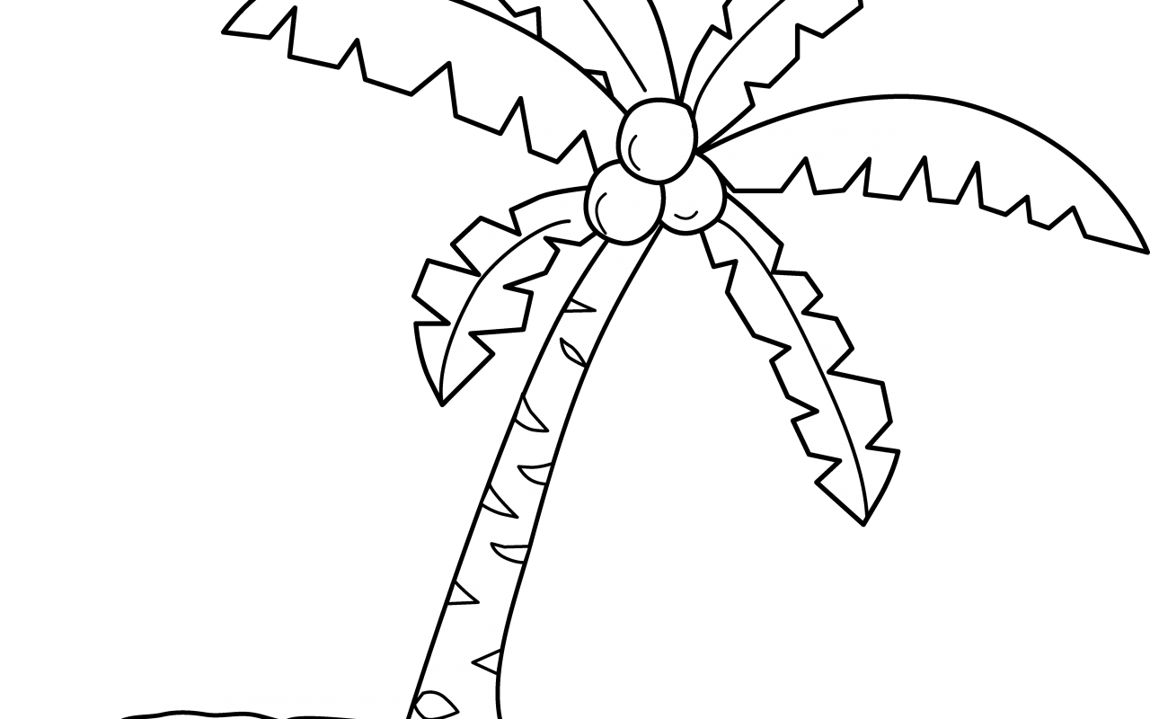 Coconut Clipart Coloring Page Coconut Coloring Page
