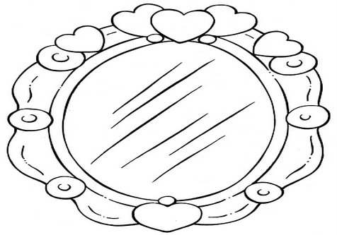 Mirror clipart coloring page, Mirror coloring page
