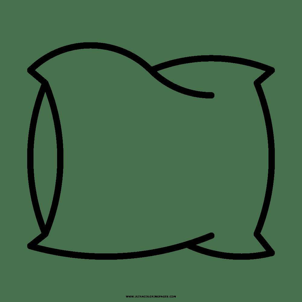 Coloring clipart pillow, Coloring pillow Transparent FREE