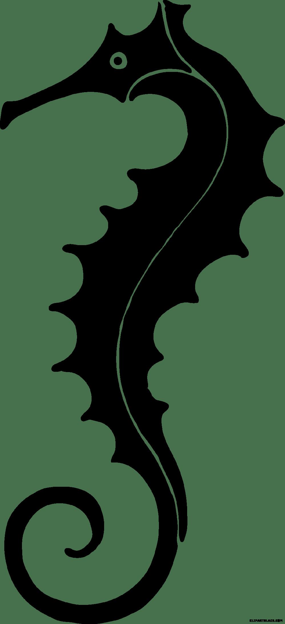 medium resolution of seahorse silhouette animal free crab clipart grumpy
