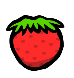 strawberries clipart watermelon strawberry big image png [ 2400 x 2400 Pixel ]
