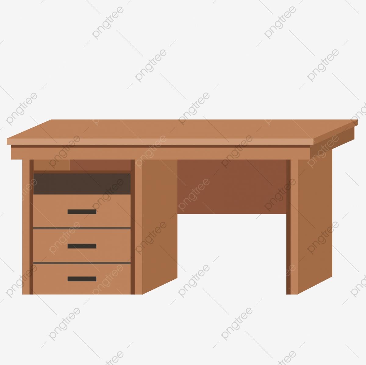 Desk Clipart Brown Desk Desk Brown Desk Transparent Free