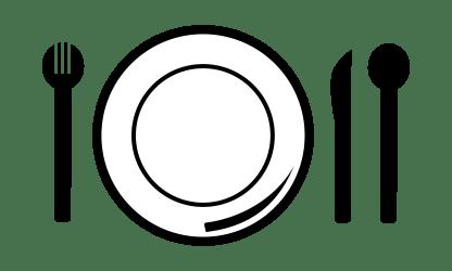 plate clipart meal transparent lunch diner webstockreview