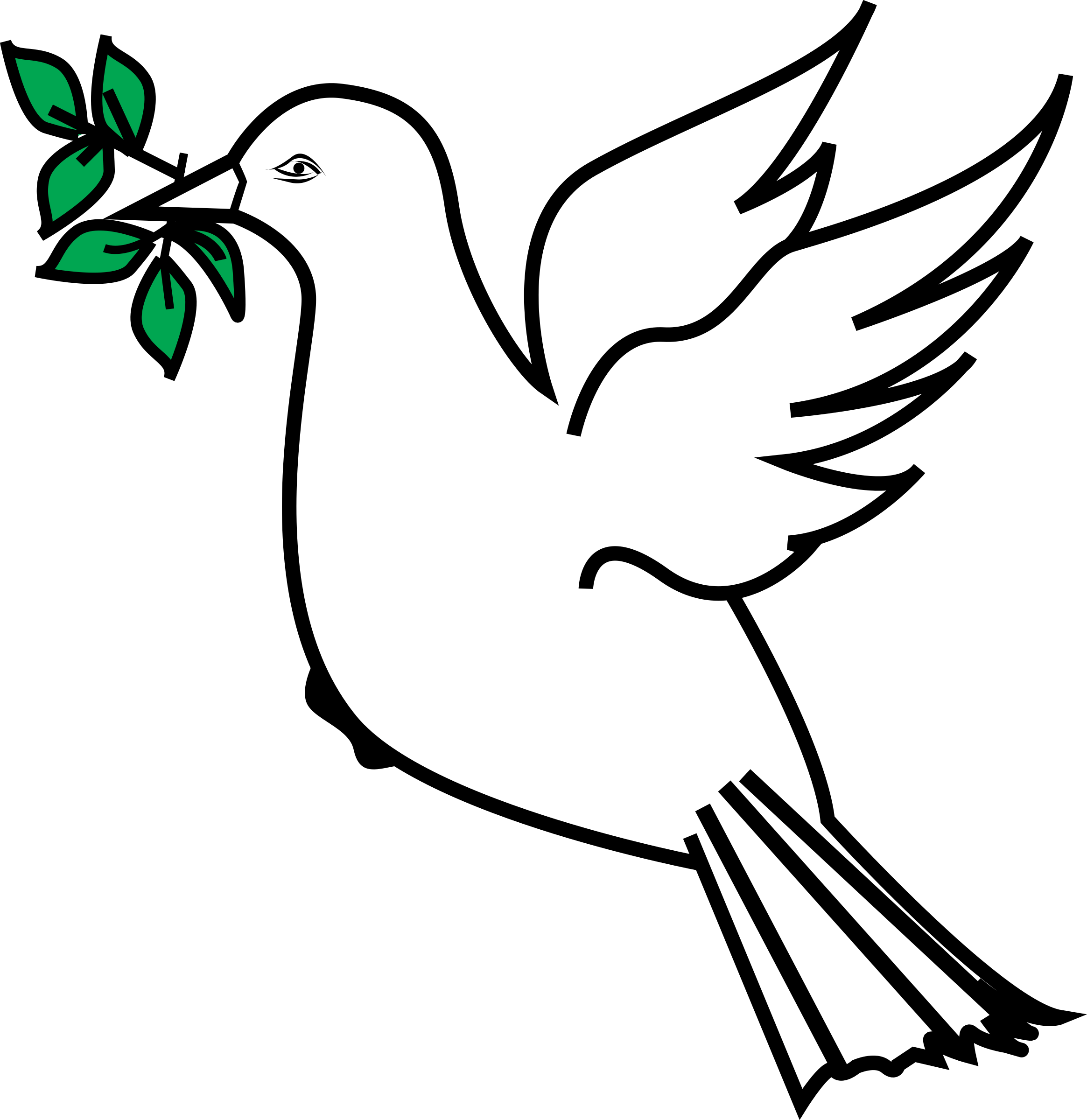 Pigeon clipart olive branch, Pigeon olive branch