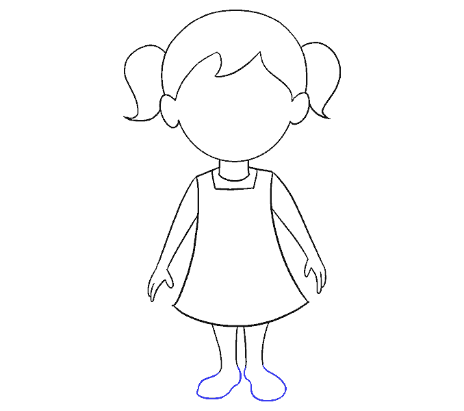 Draw clipart girl draw, Draw girl draw Transparent FREE