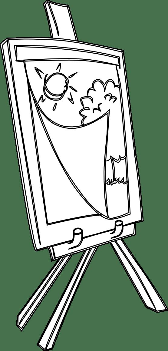 Easel clipart painter easel, Easel painter easel
