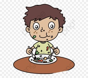 clipart messy delicious boy transparent eating cartoon eat hunger webstockreview clipground