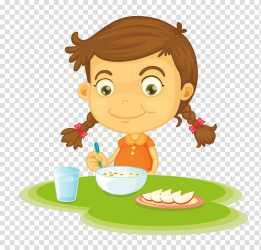 eating clipart breakfast cereal transparent clip colegio webstockreview madre vida