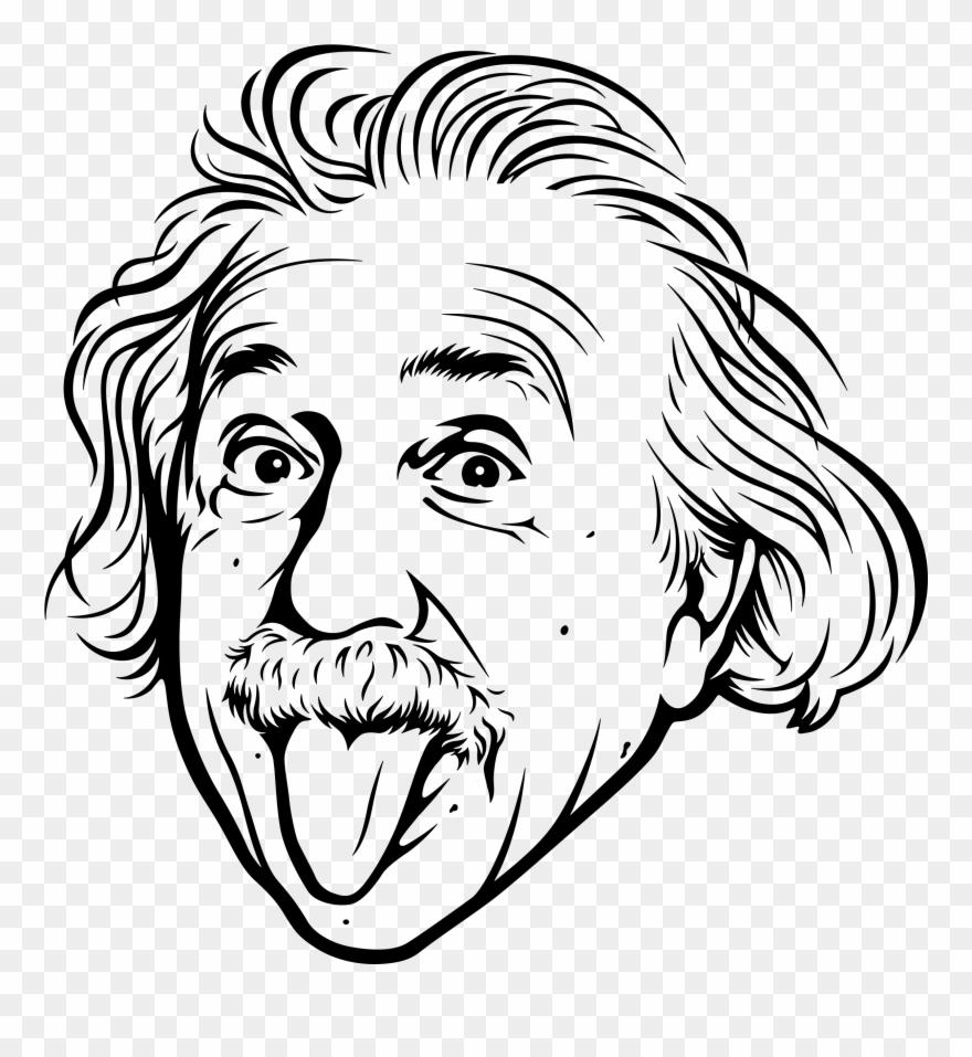 Einstein clipart painting, Einstein painting Transparent