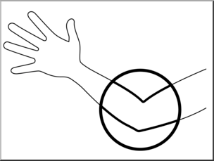 elbow clipart clip body parts bw unlabeled abcteach webstockreview