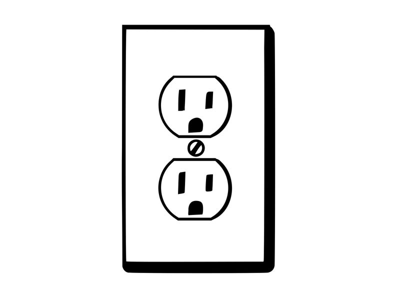 Electrical clipart outlet, Electrical outlet Transparent