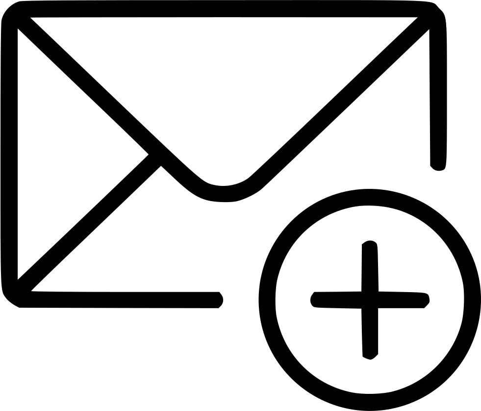 medium resolution of add email envelope message svg png free