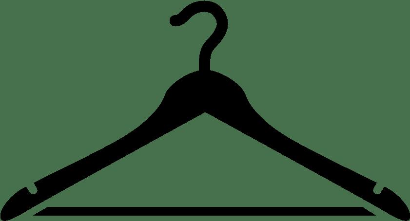 Hanger clipart line art, Hanger line art Transparent FREE