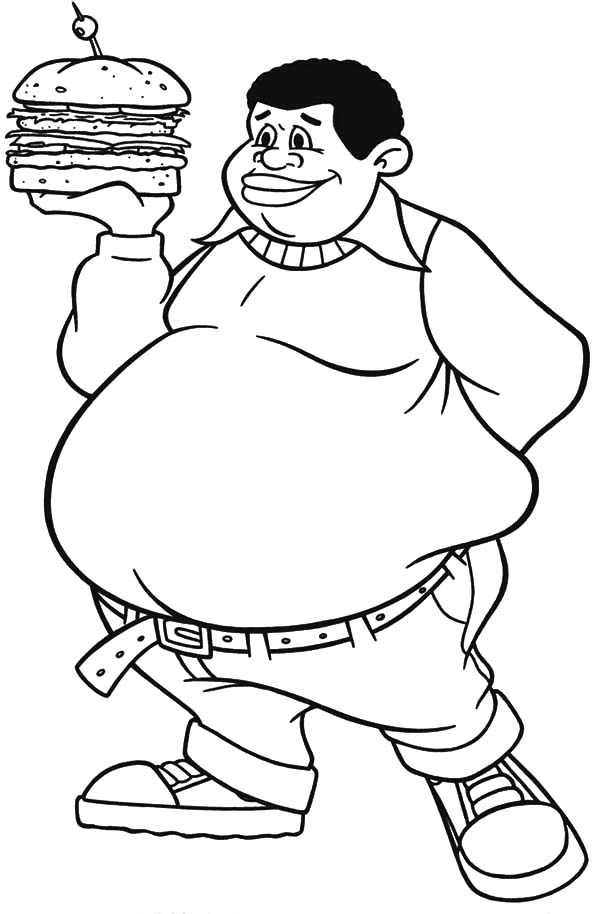 Fat clipart coloring, Fat coloring Transparent FREE for