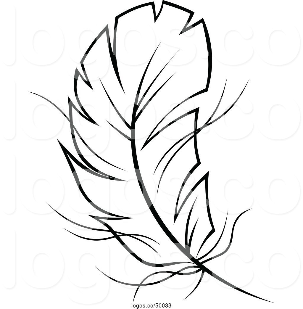 Feathers clipart outline, Feathers outline Transparent