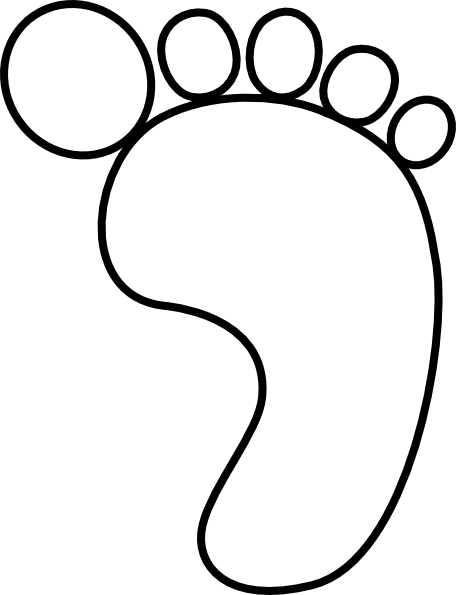 Foot clipart foot outline, Foot foot outline Transparent
