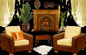 interior decoration clipart furniture elements lifeblue transparent fireplace deviantart living webstockreview
