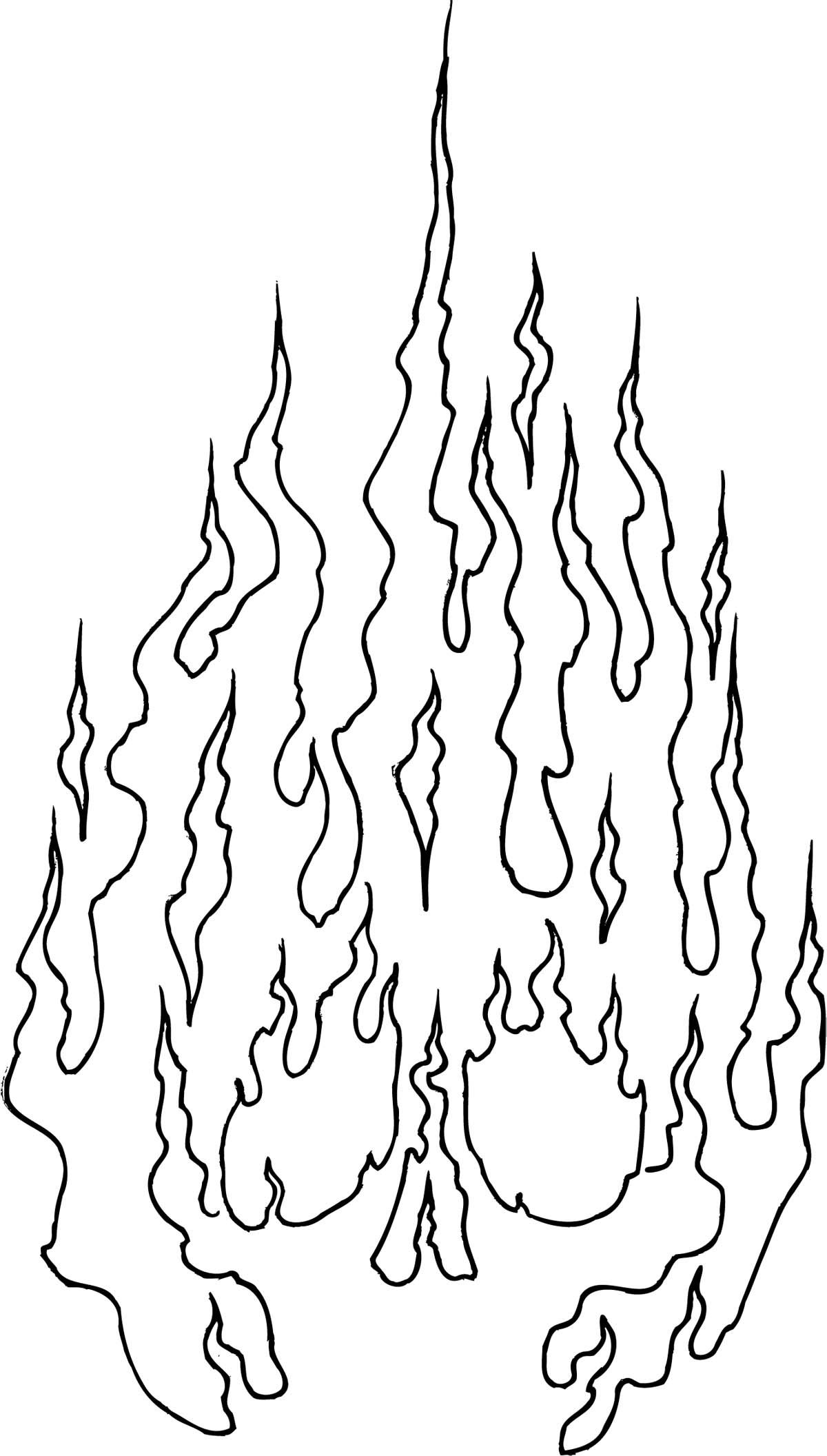 Flames Clipart Line Drawing Flames Line Drawing