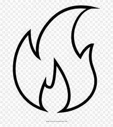 clipart flames outline flame fire drawing transparent webstockreview