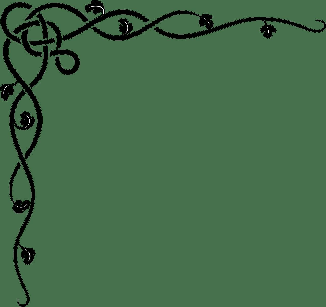 Flourish clipart title border, Flourish title border