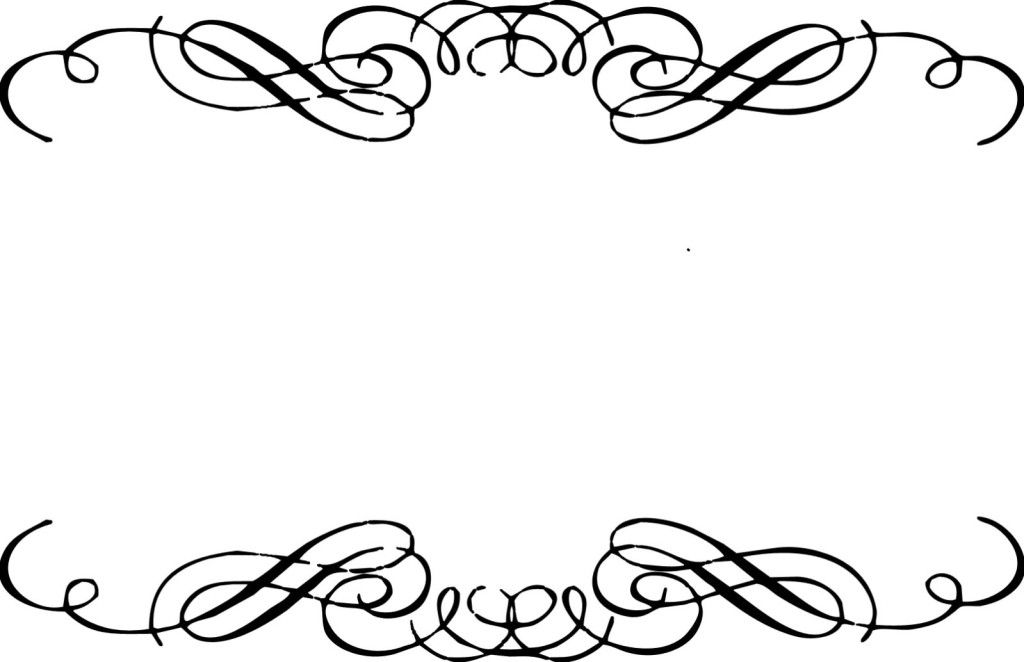 Flourishes clipart curved line, Flourishes curved line