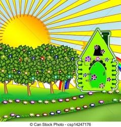 Garden clipart house Picture #2740305 garden clipart house